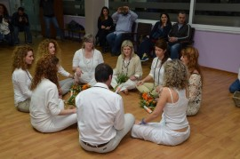 Certificate awards of the Hatha Yoga training program, April 2015